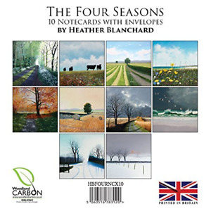 10 British landscape notecards with envelopes by artist Heather Blanchard. The