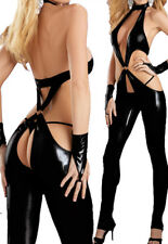 L771 Black PU Fashion Pants Catsuit Costume