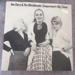 "7"" IAN DURY & THE BLOCKHEADS SUEPERMAN'S BIG SISTER STIFF 1980"