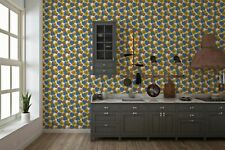 Sunflower Denim Hearts Pattern Tile Stickers for 150mm x 150mm / 6x6 In 4x4 v9