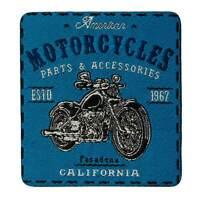 Aufbügler Aufbügelmotiv BIKER Patch Motorcycles 1967 blau Aufnäher Motorrad NEU