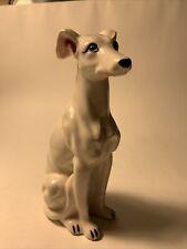 Vintage Porcelain Greyhound Dog Figurine 7.5� H