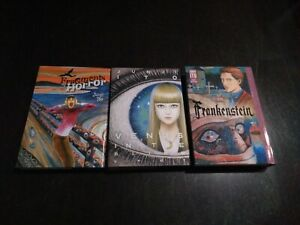 junji ito lot of 3 books frankenstein fragments of horror and venus in the blind