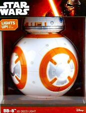 BB-8 DROID 3D Wall Light Star Wars The Last Jedi BB8 Robot DECO Night Light NEW