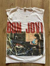 Vintage Bon Jovi Sleeveless Shirt 'Taking It To The Streets Size L. 1989.