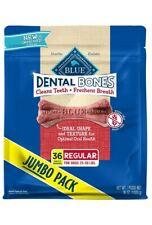 Blue Buffalo Dental Bones Natural Adult Dental Chew Dog Treats Regular 36oz bag