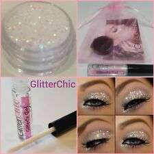 Paillettes Yeux Maquillage grand 10g irridescant perle avec fix Gel ,