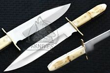 Gorgeous Custom Handmade inox steel Knife With Guard and Bone Handle