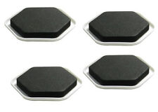 Lot of (2) Pack of 4 Furniture Sliders Black Padded Foam Dispersed Weight