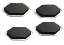 Pack of 4 Furniture Sliders Black Padded Foam Dispersed Weight Plastic Bottom