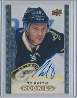 2014-15 Upper Deck Masterpieces Rookie AUTO 169 Ty Rattie
