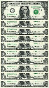10 Consecutive 2009 $1 BA Block FRNs - Gem Crisp Uncirculated