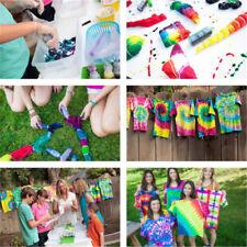12 Colour Bottle Tie Dye Kit 40 Rubber Band 4 Pairs Vinyl Gloves DIY Kit AC