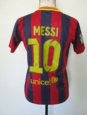 Messi FC Barcelona 2013-2014 Home Jersey UNICEF, Size YOUTH 14