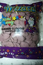 Wizard Gummi Candy Thunder Clouds Grape Flavour PURPLE COLOR 1kg Bulk Bag