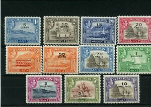 ADEN #34 - #46 * mint hinged Cat Value $87 - stamps