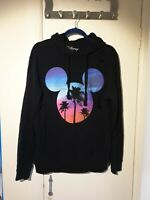 River Island Disney Mens Mickey Mouse Size M Medium Black Hoodie With Rip Effect