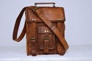 Vintage Bag Leather Handmade Mens Briefcase Laptop Case Messenger Shoulder Bag