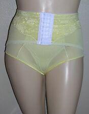 J NEW Yellow Retro Panty Girdle Brief Lace Front Hook Waist Cincher 44W 7X