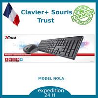 Trust Nola Ensemble sans Fil Clavier et Souris Optique USB - AZERTY