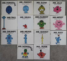 Mr Men Paperback X14 Book Bundle - Rude Busy Skinny Mean Forgetful Slow Perfect