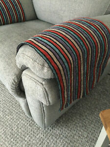 PLUSH LUXURY x1  Chair Arm Back Cover Antimacassar Sofa Armchair Protect STRIPED