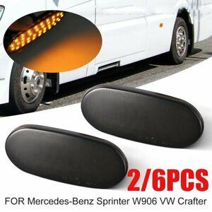 6PCS LED Side Marker Indicator Lamp Light For Mercedes Sprinter W906 VW Crafter