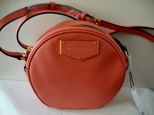 ~*$328 NWT Marc Jacobs Voyager Circle Leather Crossbody Bag in * Conch