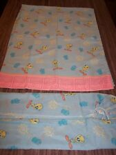 WB LooneyTunes TWEETY BIRD TWIN SIZE SHEET SET FABRIC