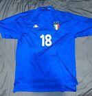 Italy Home 1998/2000 Kappa Football Shirt Large Baggio 18