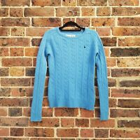 Jack Wills Blue Sweater Jumper Size 10 Cashmere Lambswool Blend