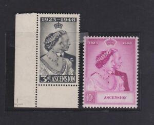 ASCENSION  52-53 Silver Wedding 1948  mint LH