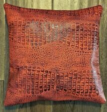 Leather cushion cover, Brand new 100% genuine, Leather handmade 37 x 37cm