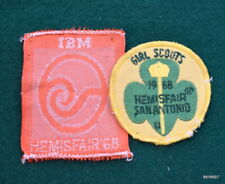 GIRL SCOUT -  TWO 1968 SAN ANTONIO HEMISFAIR PATCHES