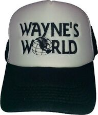 New Wayne's World Black/White Contrast Trucker Cap Hat Embroidered Quality Hat