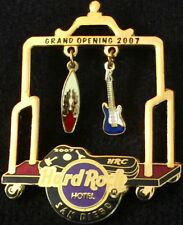 Hard Rock Hotel SAN DIEGO 2007 GRAND OPENING GO PIN Gold Luggage Cart HRC #40272