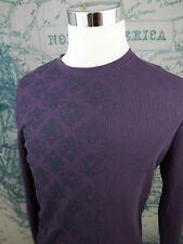 VANS Men's Collarless Pullover Thermal LS Shirt - Purple Skate/Surf Lg - R950a