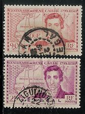 France Colony  SENEGAL 1939 Old Used Stamps - Rene Caillie Explorer