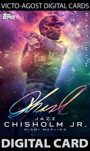 Topps Bunt Platinum Jazz Chisholm Jr GALAXY SIGNATURE ICONIC - 1 CARD [BUNT APP]
