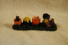 Lemax Spooky Town Trick Or Treat Train Black Cats Candy Corn Figurine
