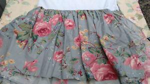 Garden Rambler by RALPH LAUREN Full size BEDSKIRT/DUST RUFFLE-BLUE FLORAL ROSES