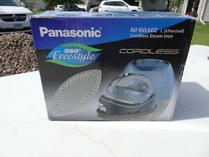 Panasonic Cordless 360-Degree Freestyle Steam/Dry Iron (Blue)