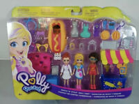 Polly Pocket Snack 'N' Style Mall Cart Snack Playset Rare NEW