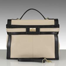 SOLDES belucia Carrara Bag Sac à Main Nappa-Mouton Cuir Bicolore Beige/Noir 869 €