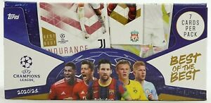 2020/21 Topps Best of the Best Supersize UEFA Champions League Soccer 24Pack Box