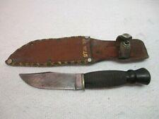 Vintage Ka-Bar Union Cutlery, Olean, N.Y. Hunting Knife & Sheath Bakelite Handle