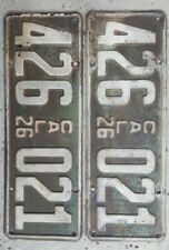 Antique Original California CA 1926 License Plates Pair