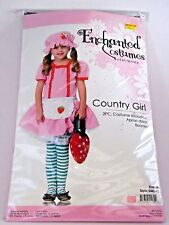 Strawberry Girl Size Medium Child Dress Up Costume Halloween Party Birthday