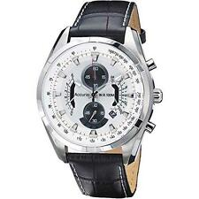 Accurist MS785B Gents Chronograph Analogue Black Strap Date Watch RRP £150.00