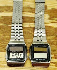 Vintage Casio AL-180 Module 668 Japan batteryless Watch solar powered